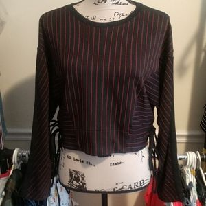 🎈Hot Item Zara Pinstripe Top, NWT, Sz Small
